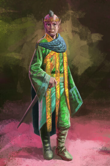 Illustration of a child Elf emperor