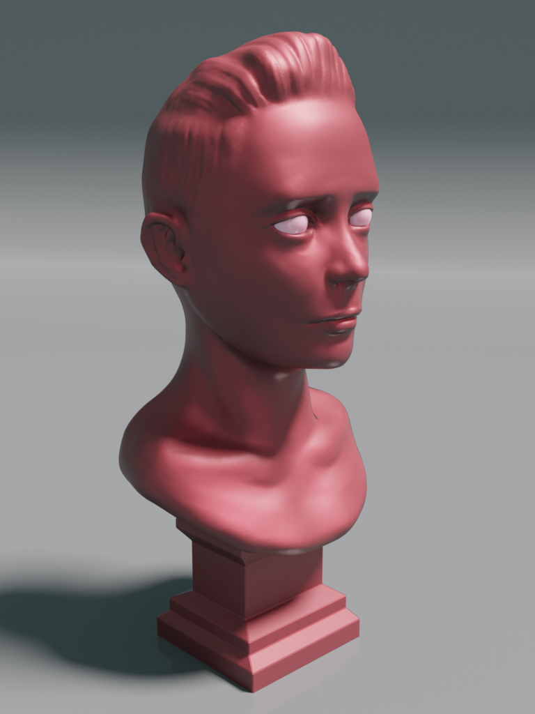 digital sculpt of a boy