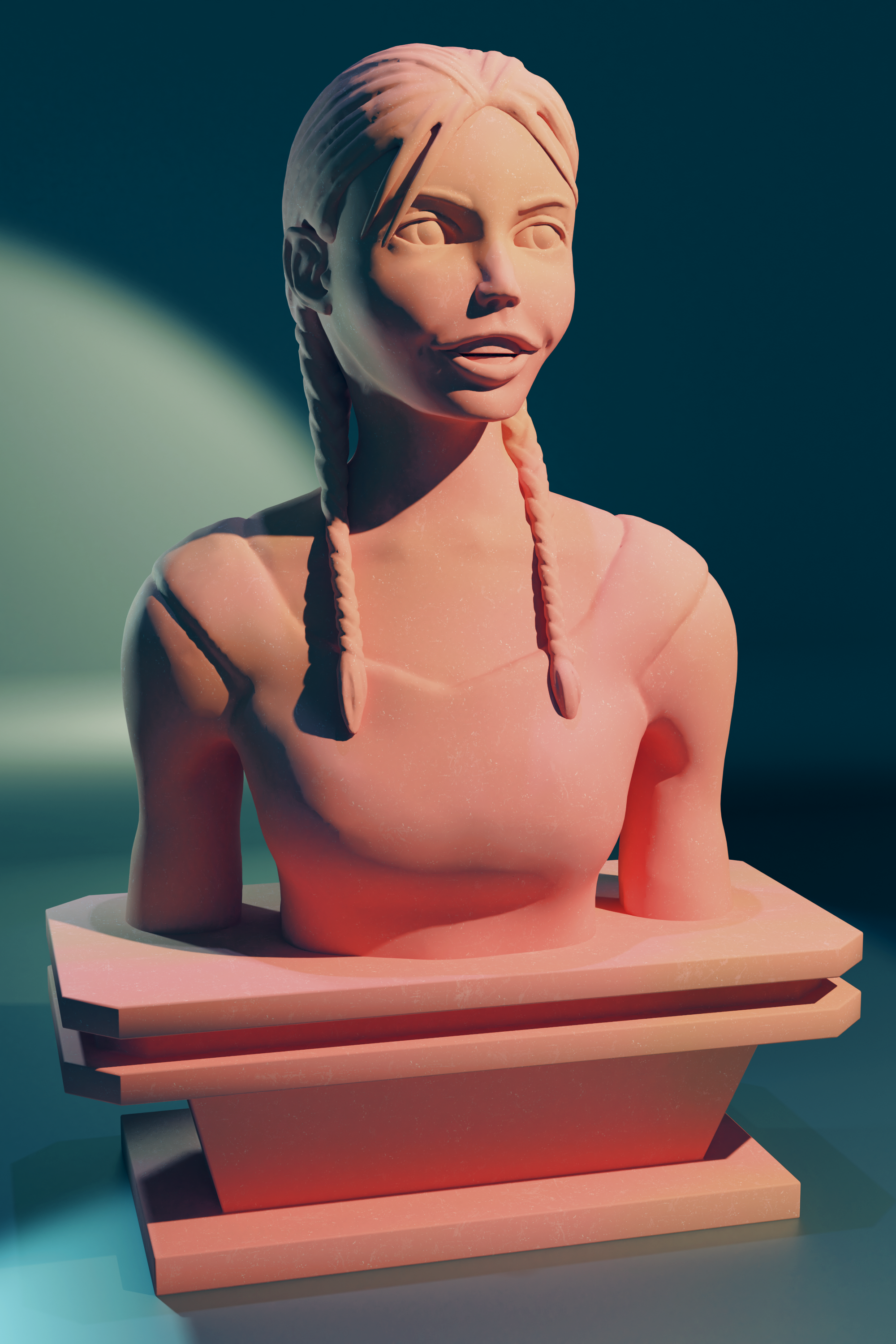 A digital sculpt of a girl