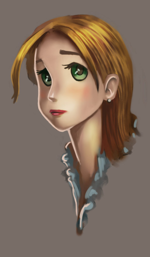 a painting of a cartoon character