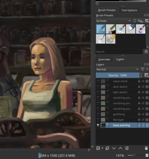 An illustration of my digital painting software settings.