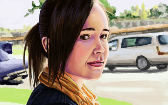 A study of a photo of Ellen Page