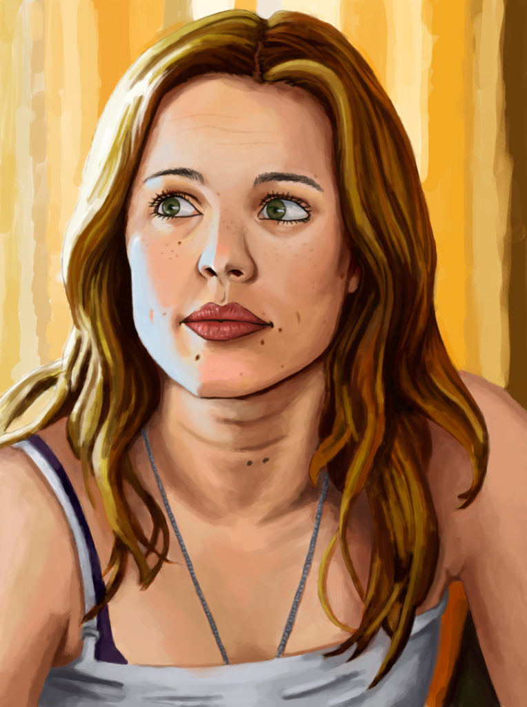 A study of a photo of Rachel McAdams