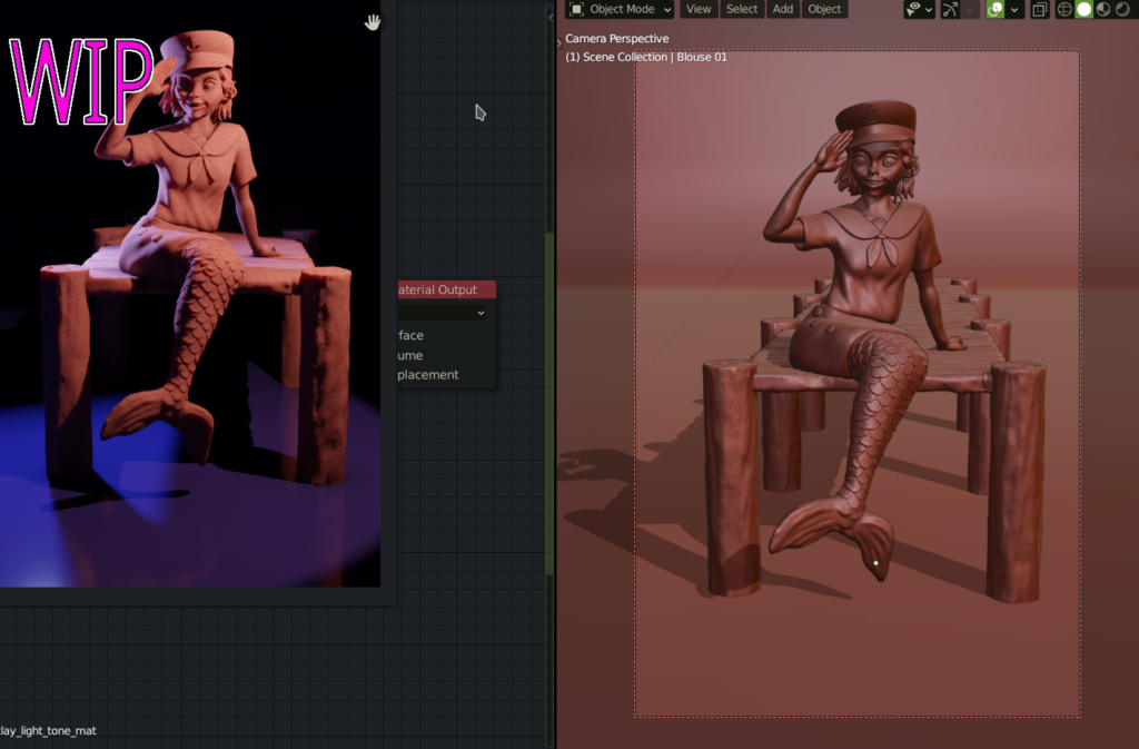 WIP Image of a digital sculpt
